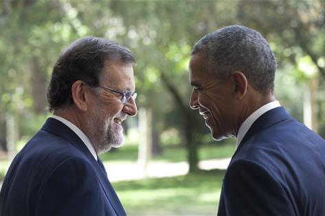 Rajoy y Obama. Foto La Moncloa.