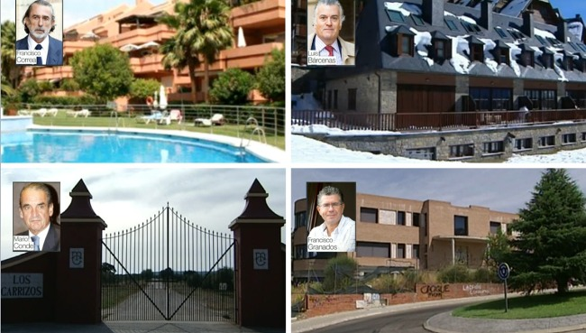 Las mansiones de la corrupción