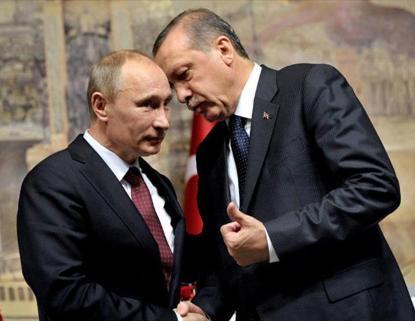 Putin y Erdogan en San Petersburgo.