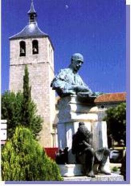 Estatua de Don Jacinto Benavente en Galapagar (Madrid).