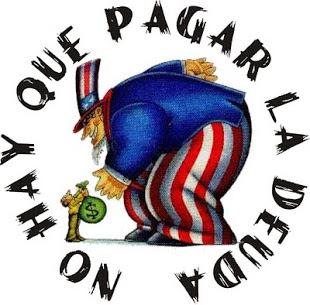 Puerto Rico denuncia la deuda y presión a la que es sometido el país. Dibujo de Todosunidosdescolonizar.