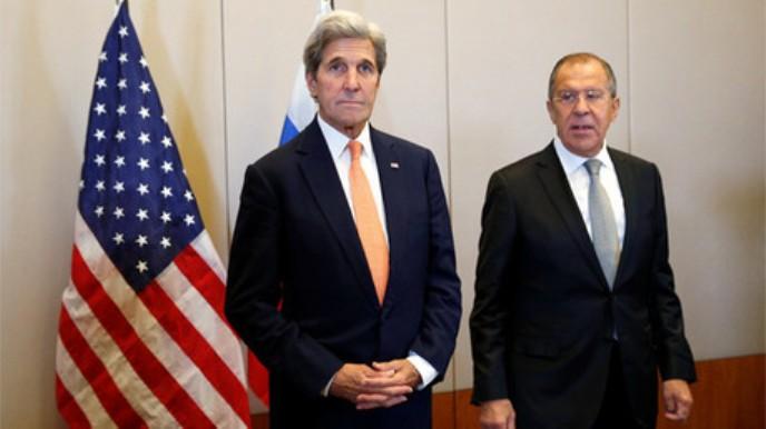 John Kerry y Seguéi Lavrov