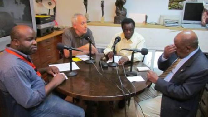 De izquierda a derecha, Abuy Nfubea, Eugenio Pordomingo, Weja Chicampo  y Severo Moto