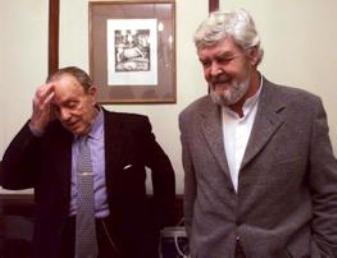Manuel Fraga y Xosé Manuel Beiras: Foto La Voz de Galicia.