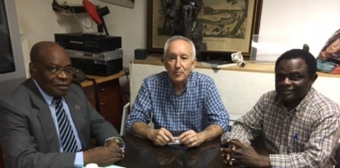 De izquierda a derecha, Severo Moto, Eugenio Pordomingo y Weja Chicampo.