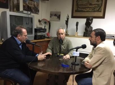 De izquierda a derecha, Javier Castro, Eugenio Pordomingo y Aniceto Setién.