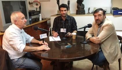 De izquierda a derecha, Eugenio Pordomingo, Raúl Peña y Aniceto Setién.