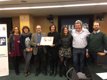 De izquierda a derecha, Pilar Lucio (PSOE), Teresa Jordà (ERC), Chesús Yuste (coordinador), Eva García Sempere (IU), Vanessa Angustia (En Marea), Juantxo López de Uralde (Equo) y Jorge Luis (Equo).