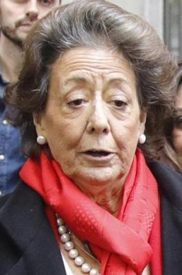 Rita Barberá en una de sus últimas imágenes.