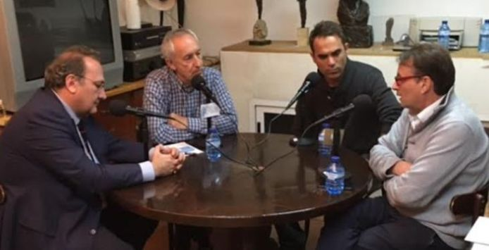 De izquierda a derecha, Javier Castro, Eugenio Pordomingo, Juan Muñoz y Rafa Díaz.