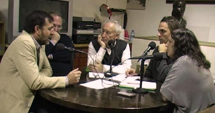 De izquierda a derecha, Aniceto Setién, Javier Castro, Eugenio Pordomingo, Juan Muñoz y Elena Sevillano.