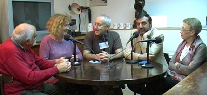 De izquierda a derecha, Félix García, Ana Camacho, Eugenio Pordomingo, Aniceto Setién y Remedios García.