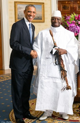 Barack Obama y Yahya Jammeh.