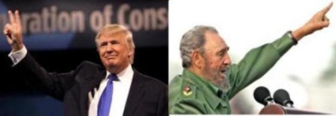 Donald Trump y Fidel Castro.