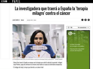 La investigadora Alena Gros.
