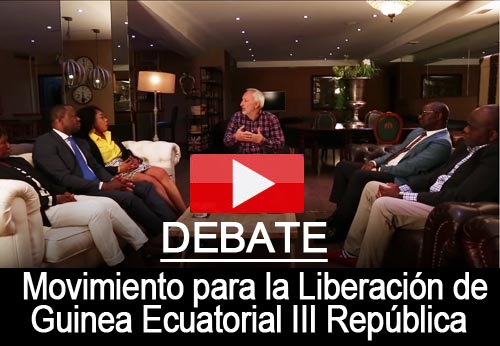 Debate sobre Guinea Ecuatorial con dirigentes y activistas del MLGE III R (Movimiento para la Liberación de Guinea Ecuatorial III República)