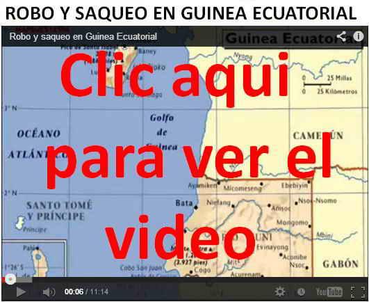Robo y saqueo en Guinea Ecuatorial